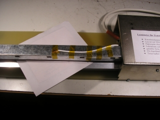 Laminator in action